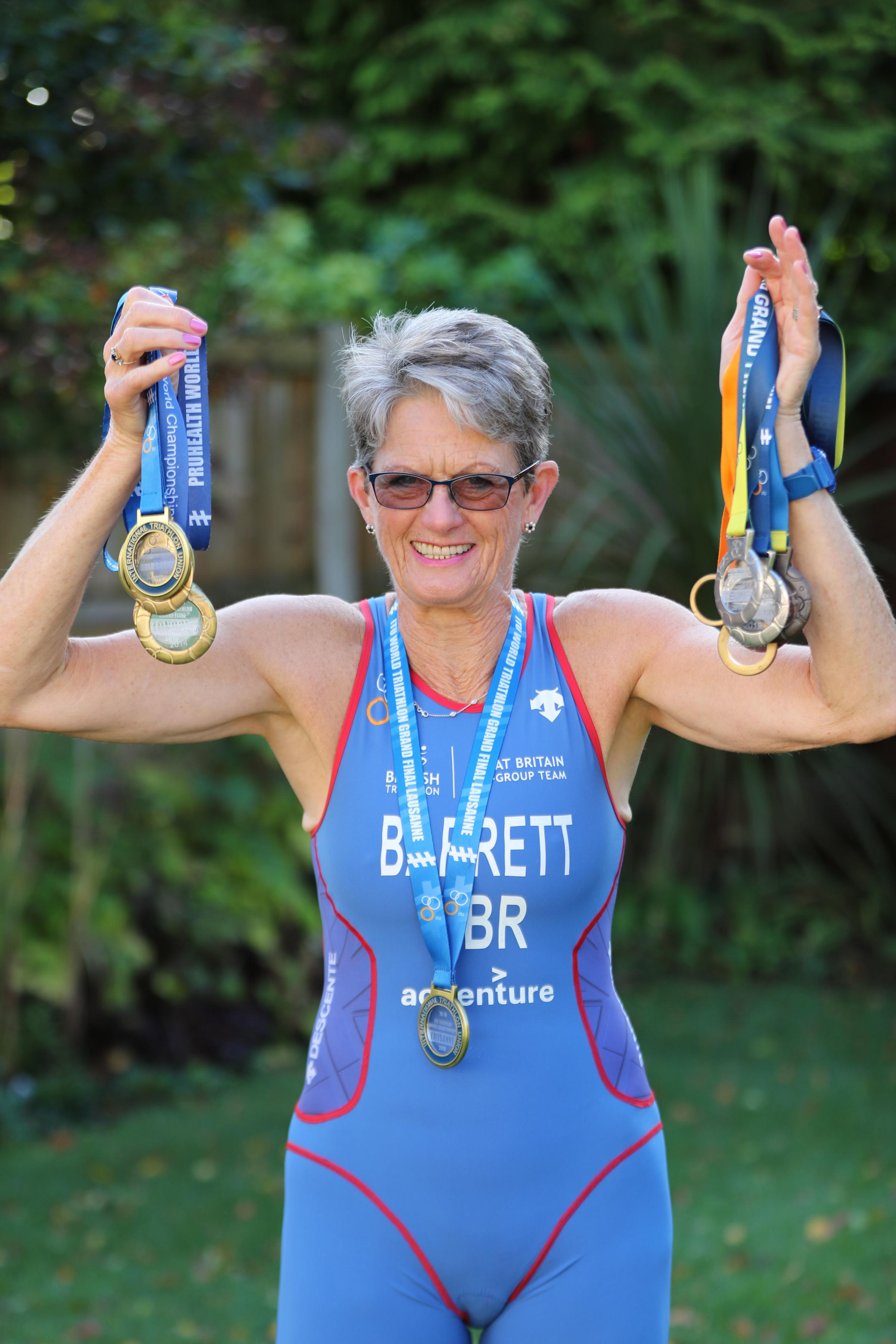 Meet Sarah - the 72-year-old triathlon world champion