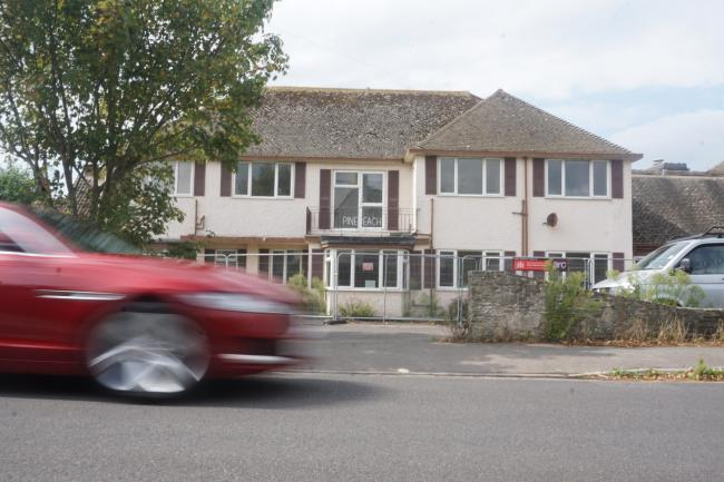 The former Pinebeach Nursing Home building in Southcliffe Road, Friars Cliff
