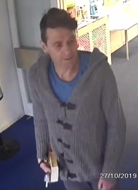 Police have released an image of a man they want to talk to after a man tried to leave Giggle 4 Kids in Elliott Road, West Howe with cash