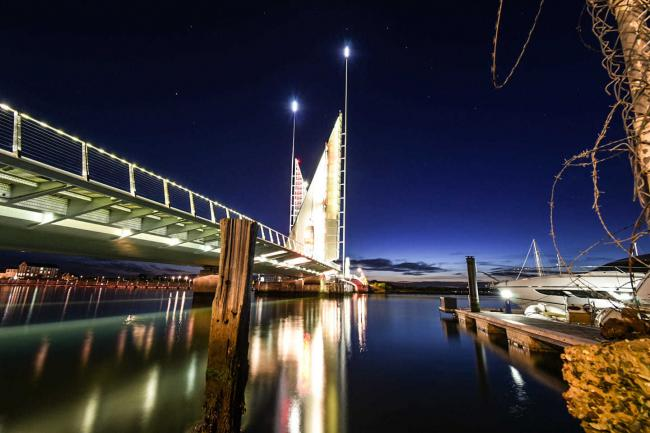The Twin Sails bridge in Poole photographed by Denise Andrews of Echo Camera Club Dorset