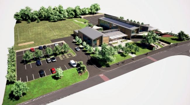 A CGI of the proposed redevelopment of Hillbourne Primary School
