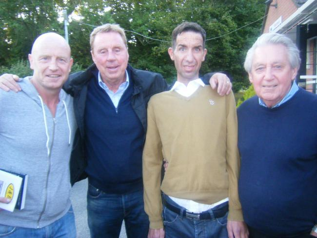 (From left) Taffy Richardson, Harry Redknapp, Andy Culliford and Brian McIntyre pictured in 2015