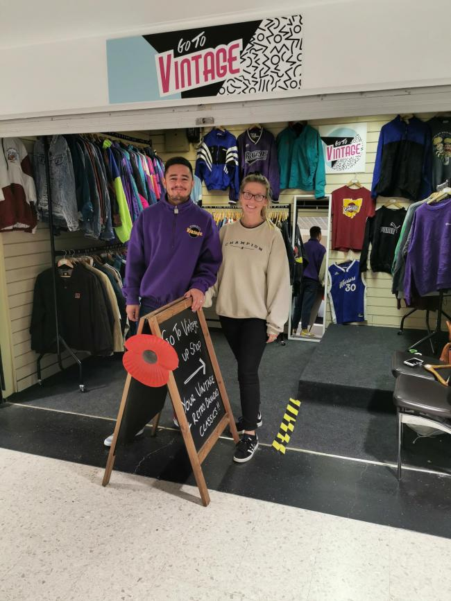 James and Rosie King at their store in the Dolphin Shopping Centre