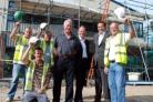 Investing in the local economy: Dave Wells, Mark Aitchison of Princecroft Willis and Steve Wells with the construction team