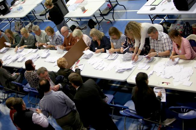The Bournemouth West and Bournemouth East election counts take place at the Littledown Centre in Bournemouth. ..