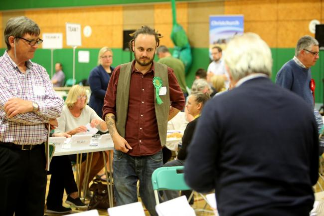 Green Party candidate Chris Rigby
