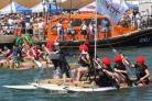 Mudeford RNLI Funday is at risk and inset, chairman of the organisers Andy Denison
