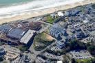 The BIC hotel site from the air. Picture, Stephen Bath. Inset Cllr Philp Broadhead