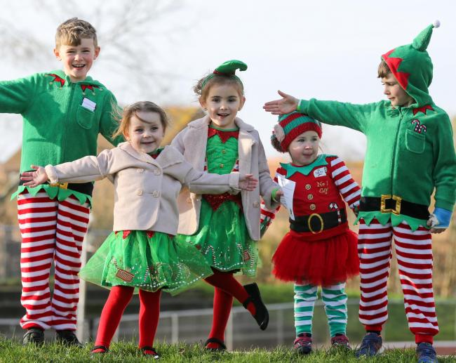 The annual Elf Dash around Baiter Park