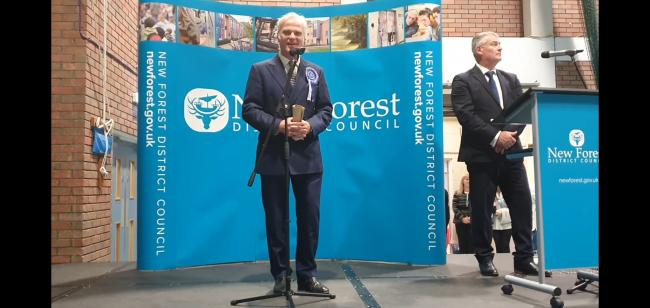 Sir Desmond Swayne retains his seat in New Forest West
