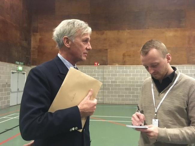South Dorset MP Richard Drax at the count in December 2019. Picture by Ellie Maslin