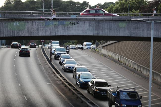 The incident happened on a stretch of the Wessex Way by the Richmond Hill flyover