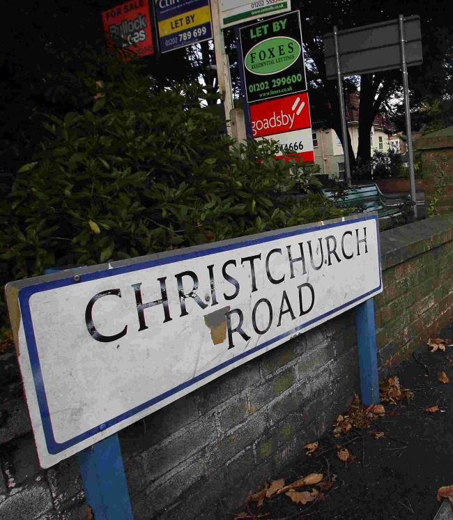 ATTACK: The woman was robbed here at the junctionof Christchurch Road and Derby Road, Bournemouth, opposite the Travelodge
