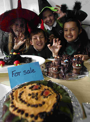 FINGERS IN PIES: Yarrells School pupils dress up in Halloween outfits and sell scary cakes in aid of Poole Hospital Wish List