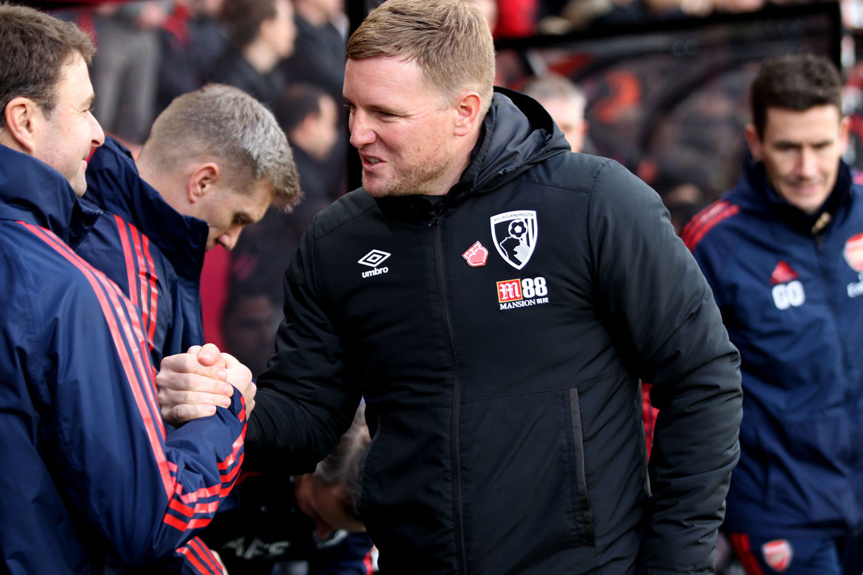 Eddie Howe believes Arsenal are not far away from once again challenging for Premier League titles