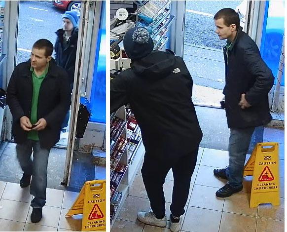 Polie have released CCTV images of two men they want to speak to after a stolen debit card was used in a shop in Bournemouth