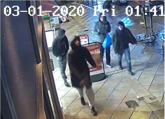 CCTV image of four people officers would like to speak with, released by Dorset Police