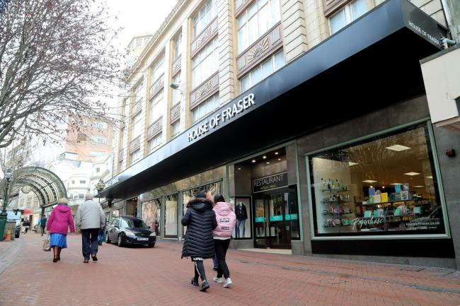 House of Fraser in Bournemouth town centre