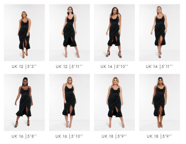 Fashion site ASOS to show same clothes on different sized models