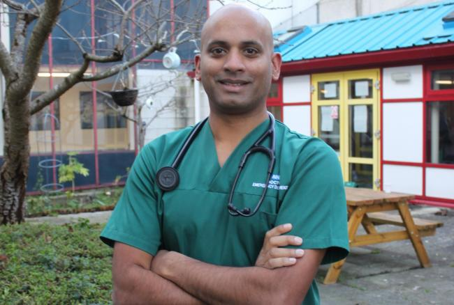 Lead clinician of the ED at Royal Bournemouth Hospital Farhad Islam