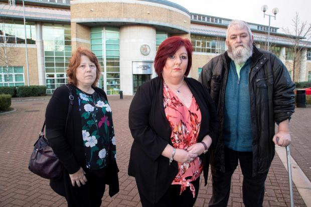 Bournemouth Echo: Charminster Spiritualist Church members who were present in court for the sentencing of Gregory and Gillian Rainford. Jackie Gunningham (centre), chairwoman of the church, said the fraud was an abuse of trust Road. Picture: BNPS