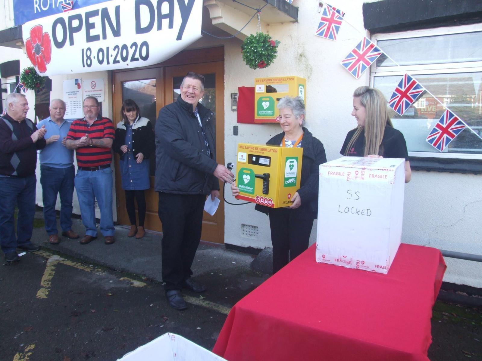 Three defibrillators are funded by the Lytchett Royal British Legion