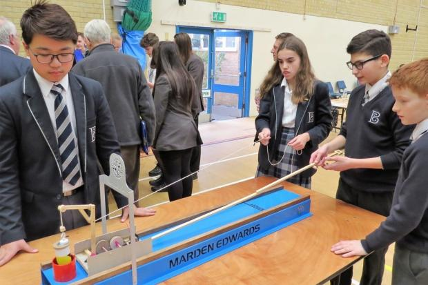 Students taking part in Rotary's Technology Tournament at Bournemouth Collegiate School