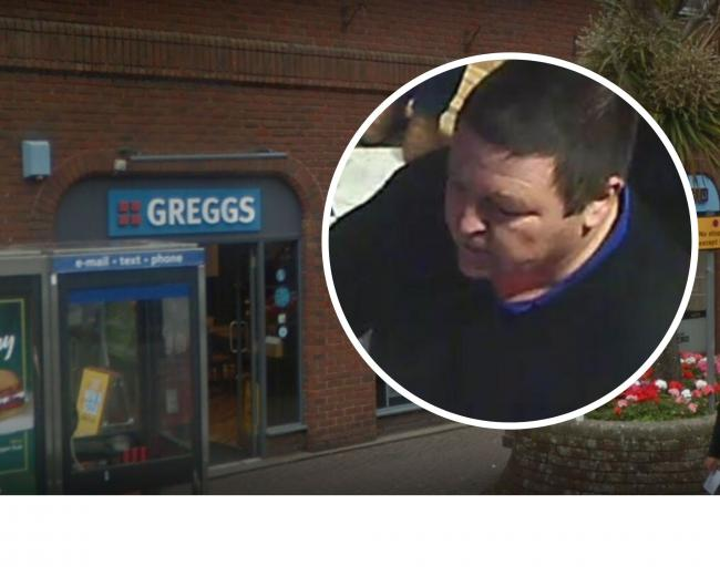 Police have released a CCTV image after an incident at Greggs in Saxon Square, Christchurch just after 4.40pm on December 28 2019.