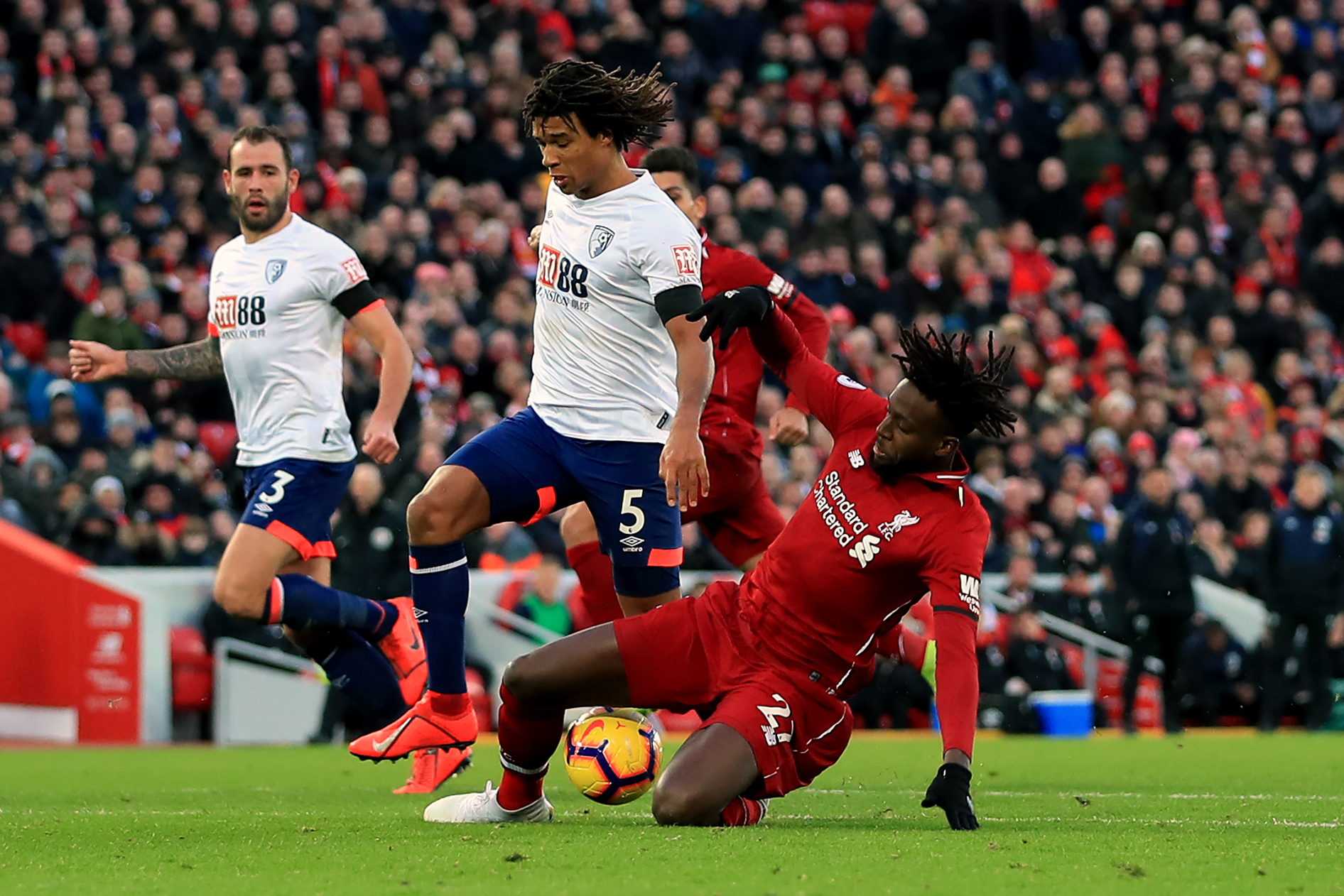 Time of AFC Bouremouth's battle at Liverpool moved for live television coverage