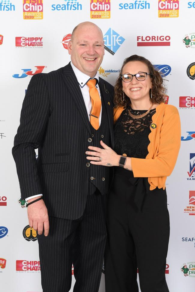 Nicki and Martyn Else at the National Fish & Chip Awards 2020