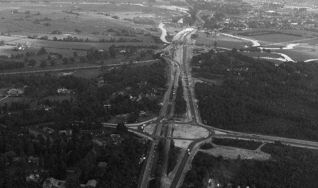 Grahame Austin kindly sent us this photo taken of the construction of the Ashley Heath roundabout and the A31 looking toward Ringwood. We believe this to be taken in the late 1960's at the very start of construction which would later include the Spur