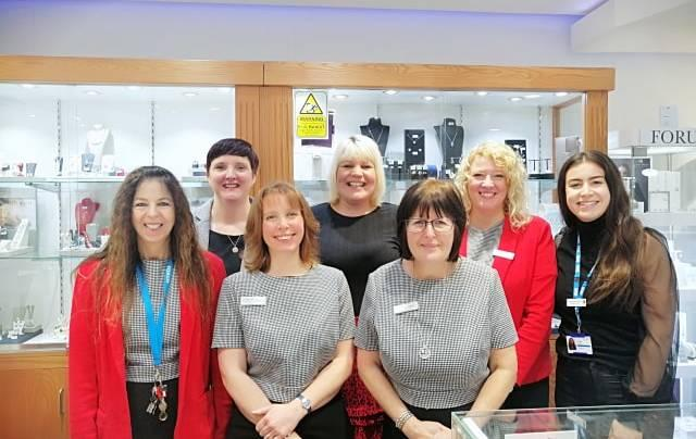 Staff from Forest Holme and Forum Jewellers celebrated their fundraising success