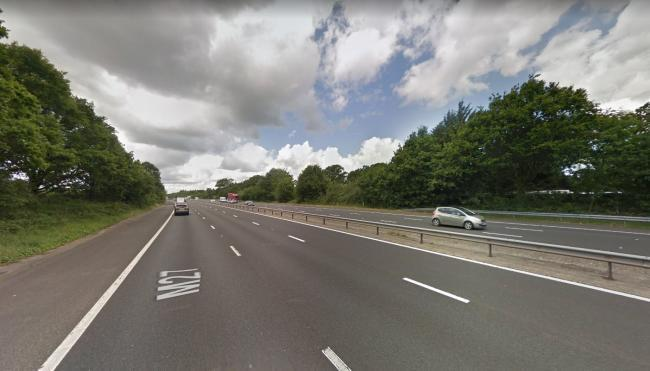 A tree fell on the M27. Image: Google
