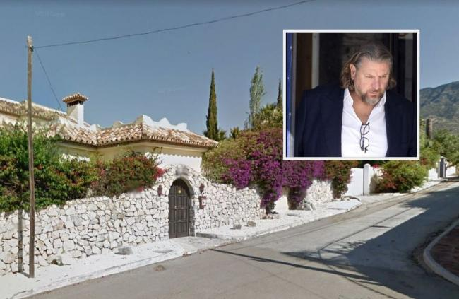 Neil Grinnall, inset, now lives in a villa just outside Marbella in Spain. Main image: Google