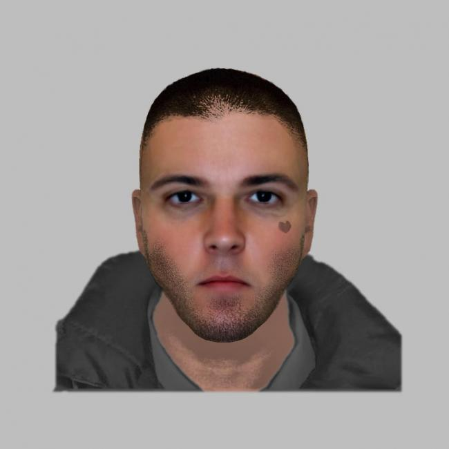 E-fit of a man police want to speak to in relation to a robbery in New Milton