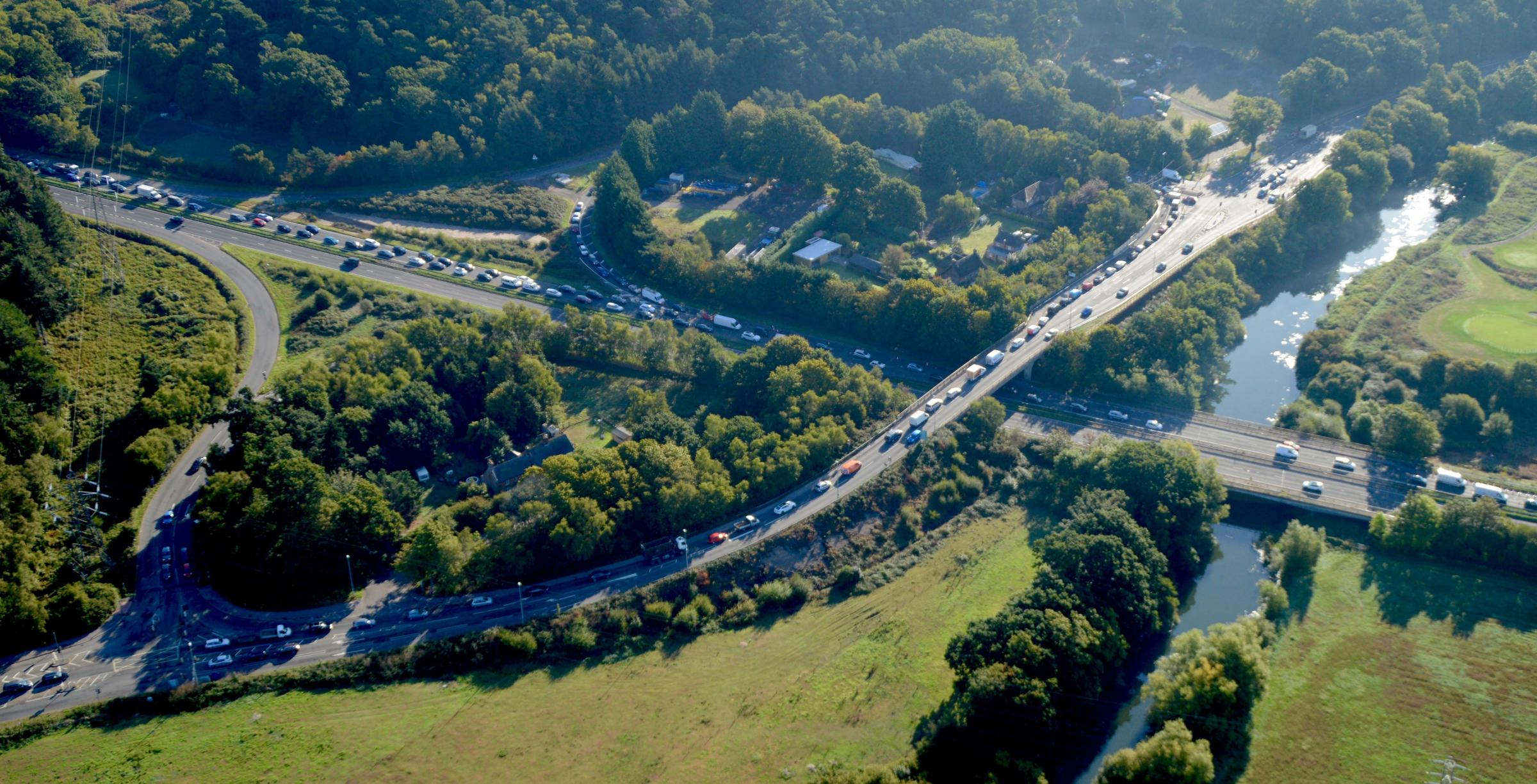 A338 northbound on sliproad at Blackwater to be closed overnight next week
