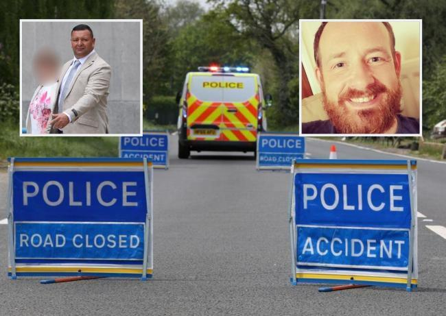 Andrew Mann, right, was killed in a crash after his motorbike was hit by a lorry driven by Wayne McKay, left