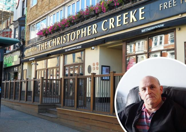 The Christopher Creeke in Holdenhurst Road, and inset, Colin Hayes