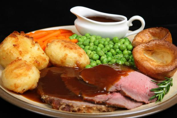 Sunday roast at the Trouville Hotel in Bournemouth