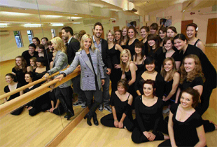 DANCE IS A FINE THING: Jamie and Louise Redknapp officially open the new Dance Studio at Twynham School