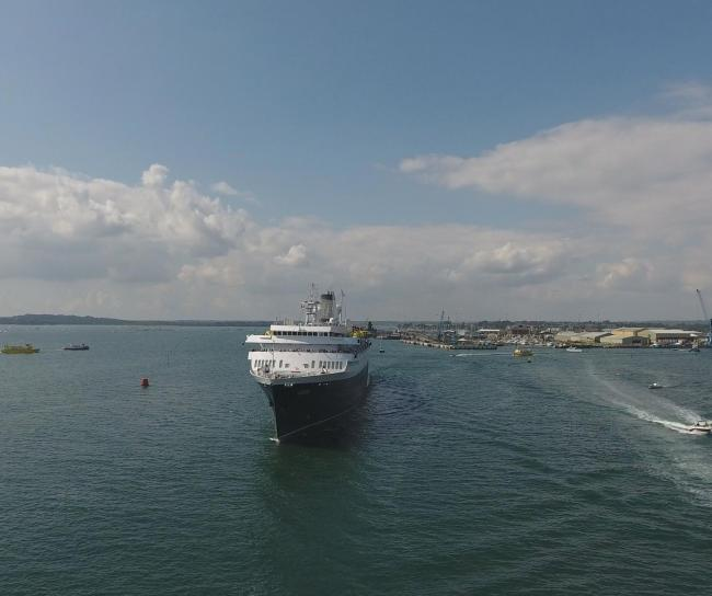 The cruise ship Astoria visiting Poole