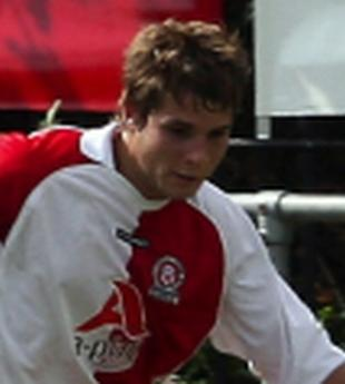 HAT-TRICK: Hamworthy striker Russell Cook (pictured playing for Poole)