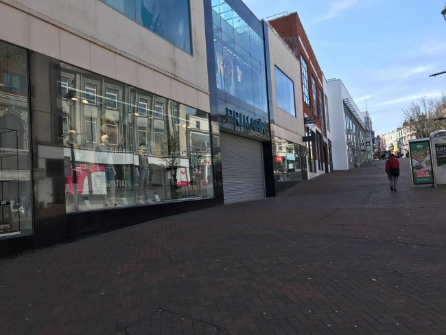 A deserted Bournemouth town centre on March 23, 2020, amid the coronavirus crisis. Picture: Jane Reader, Bournemouth Daily Echo.