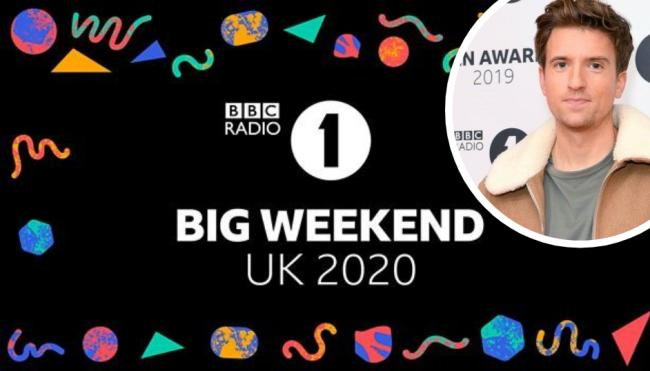 BBC Radio 1's Big Weekend 2020: Four-day music event to take place 'virtually'. Inset, Radio 1 Breakfast presenter Greg James. Picture: BBC/PA Wire
