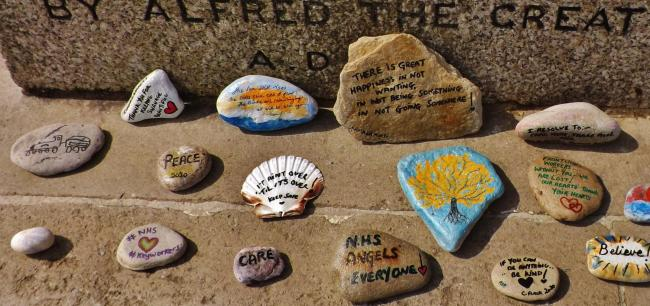 Robin Boultwood from Swanage sent us this photo of the lovely stones that have been decorated and painted to support the NHS staff which have been left on the steps of the old memorial on Swanage sea front for all to see.