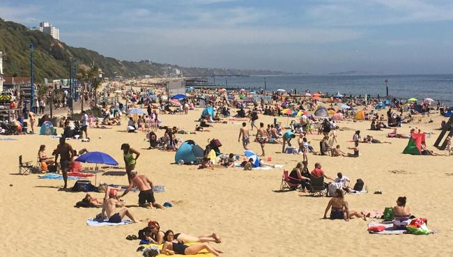 Bournemouth Beach appears at its busiest since the coronanvirus crisis started