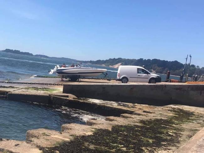 Coastguards issue warning after people use the Sandbanks Ferry slipway without permission. Picture: Poole Coastguard Rescue