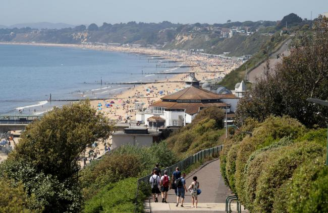 Bournemouth seafront has been busy this week