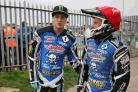 Picture by Richard Crease  - 21/05/14  - RC210514sPirBees32 - sport - speedway - Poole pirates v Coventry Bees -   Darcy ward and Josh Grajczonek
