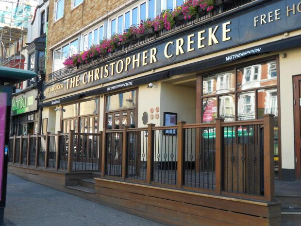 Bournemouth Echo: The Christopher Creeke Wetherspoon pub in Holdenhurst Road, Bournemouth